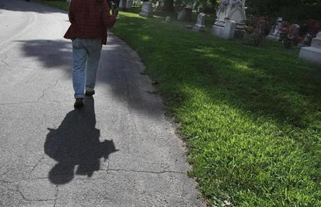 Mighty craves solitude at the cemetery, uninterrupted by birders peering through binoculars or tourists studying maps of the labyrinthine paths.